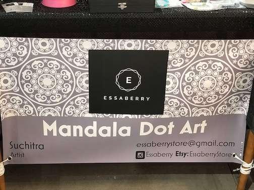 Essaberry Mandala Dot Art Banner